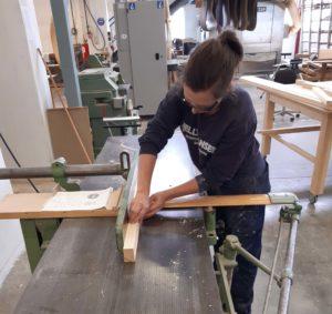 Bild på tillverkning vid Hantverksslussen